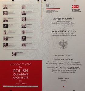 Exhibition of works by Polish Canadian Architects in Vancouver