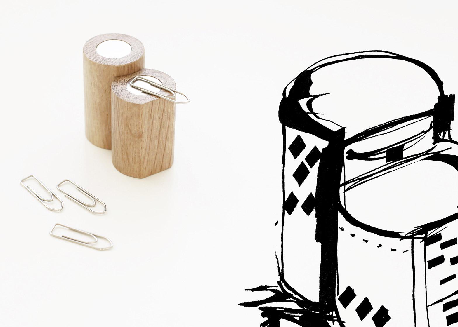 Image: The paper-clip holder references Melnikov House by K.S. Melnikov. Courtesy of Dezeen