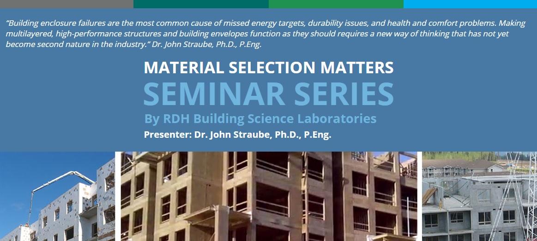 Material Selection Matters Seminar Series