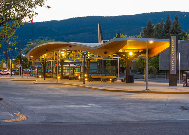 Image: Queensway Transit Exchange in Kelowna. Photo: VIA Architecture