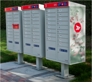 Canada Post centralized mail boxes