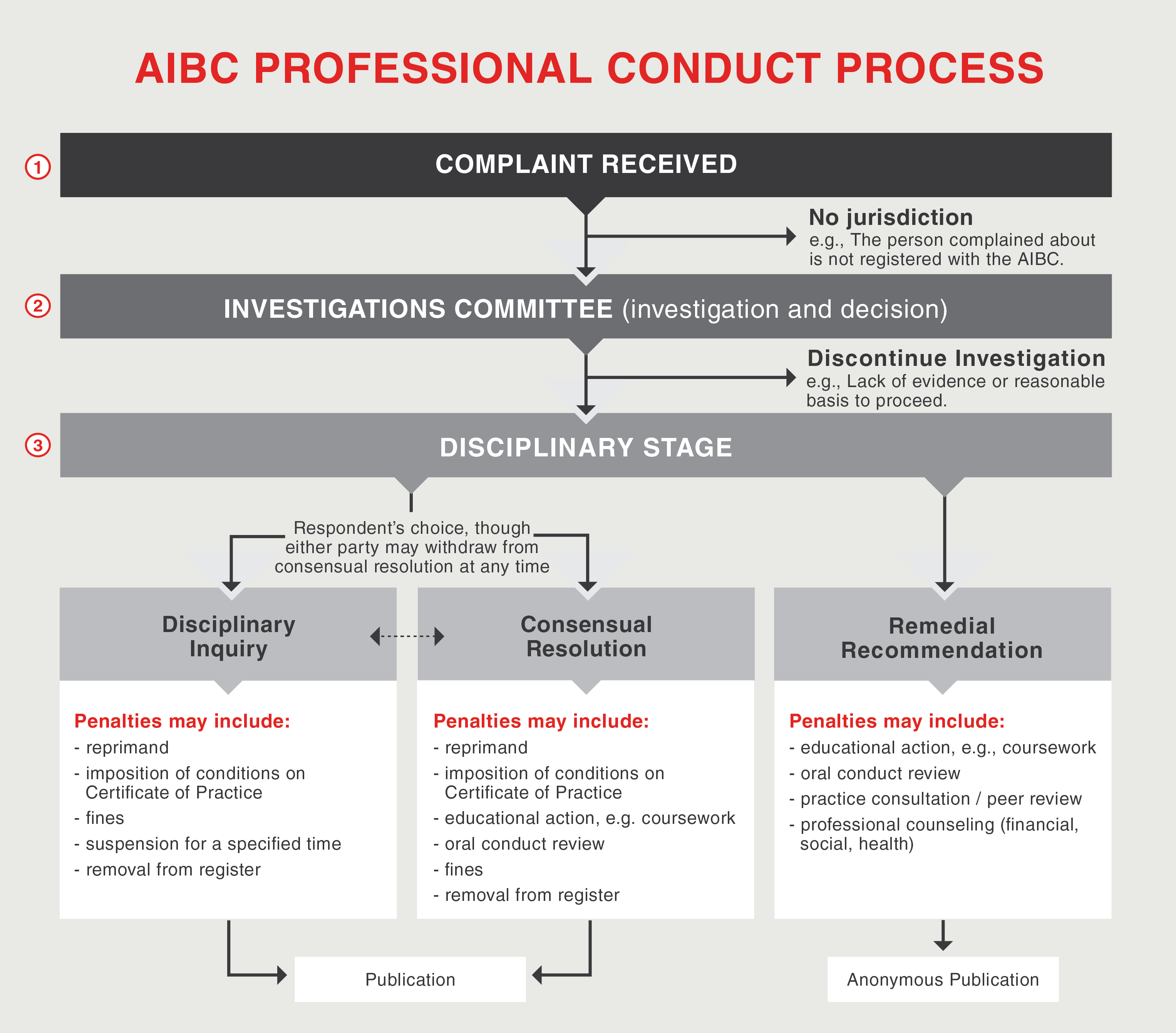 Investigation Process Infographic